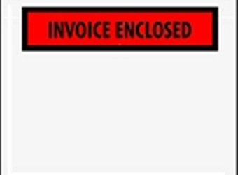 Invoice Enclosed Envelopes 1/4 Pannel